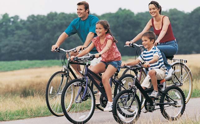 Porodica na biciklima