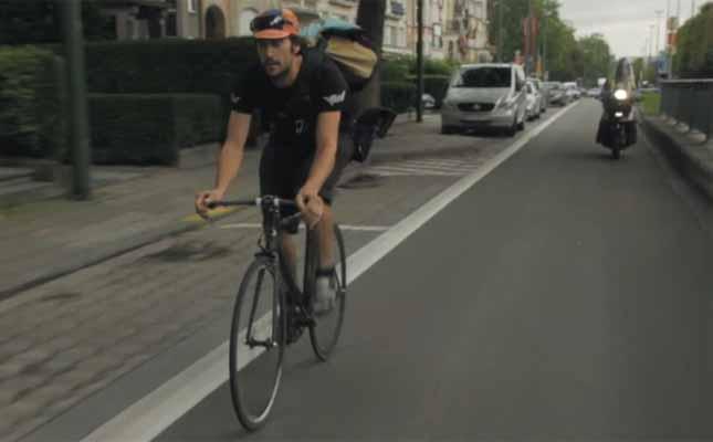 Brisel kurir na biciklu