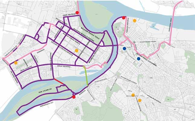 """Fotografija mape staza u BG """"Bicikliraj Beogradom"""""""