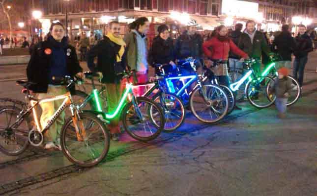 Osvetljenje bicikla - Kritična masa