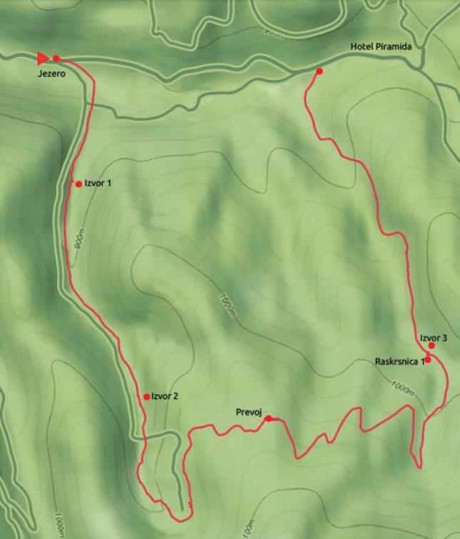mapa Sivi potok