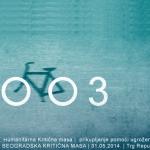 Najava 38. Beogradske Kritične mase – Prikupljanje pomoći ugroženima u poplavama
