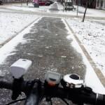 Kako voziti bicikl po snegu?