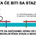 """51. Beogradska Kritična masa – """"Šta će biti sa stazom?"""""""